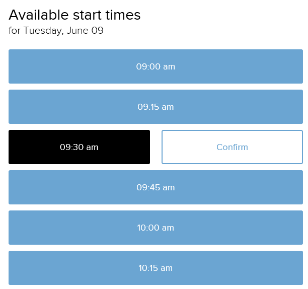 confirm meeting times