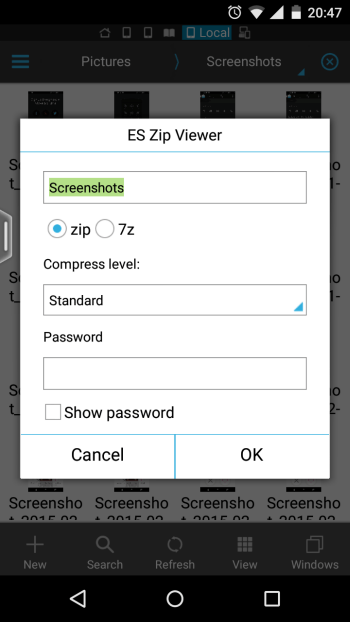 create zip file on android