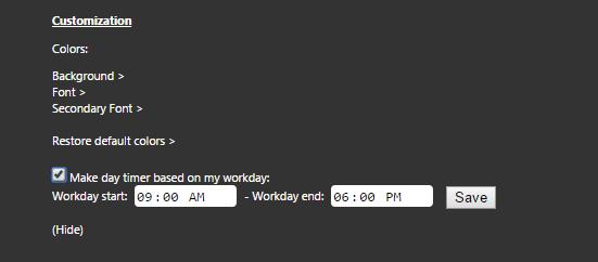 prioritab settings