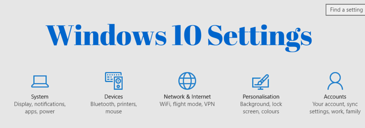 windows 10 settings fi