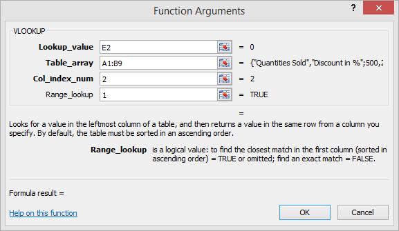 function arguments in NOT EXACT MATCH scenario