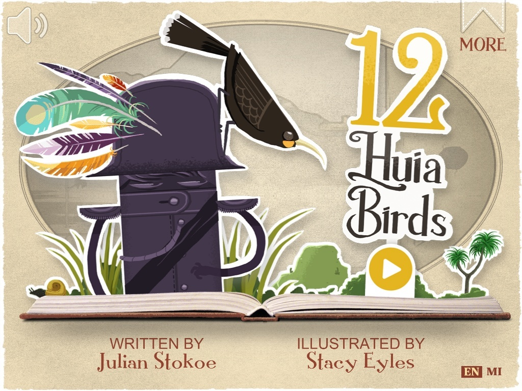 12 Huia Birds is an Interactive Storybook About the Lost Forest Birds of NZ