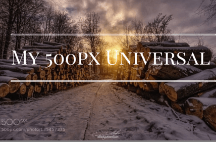 My 500px Universal App for Windows 10