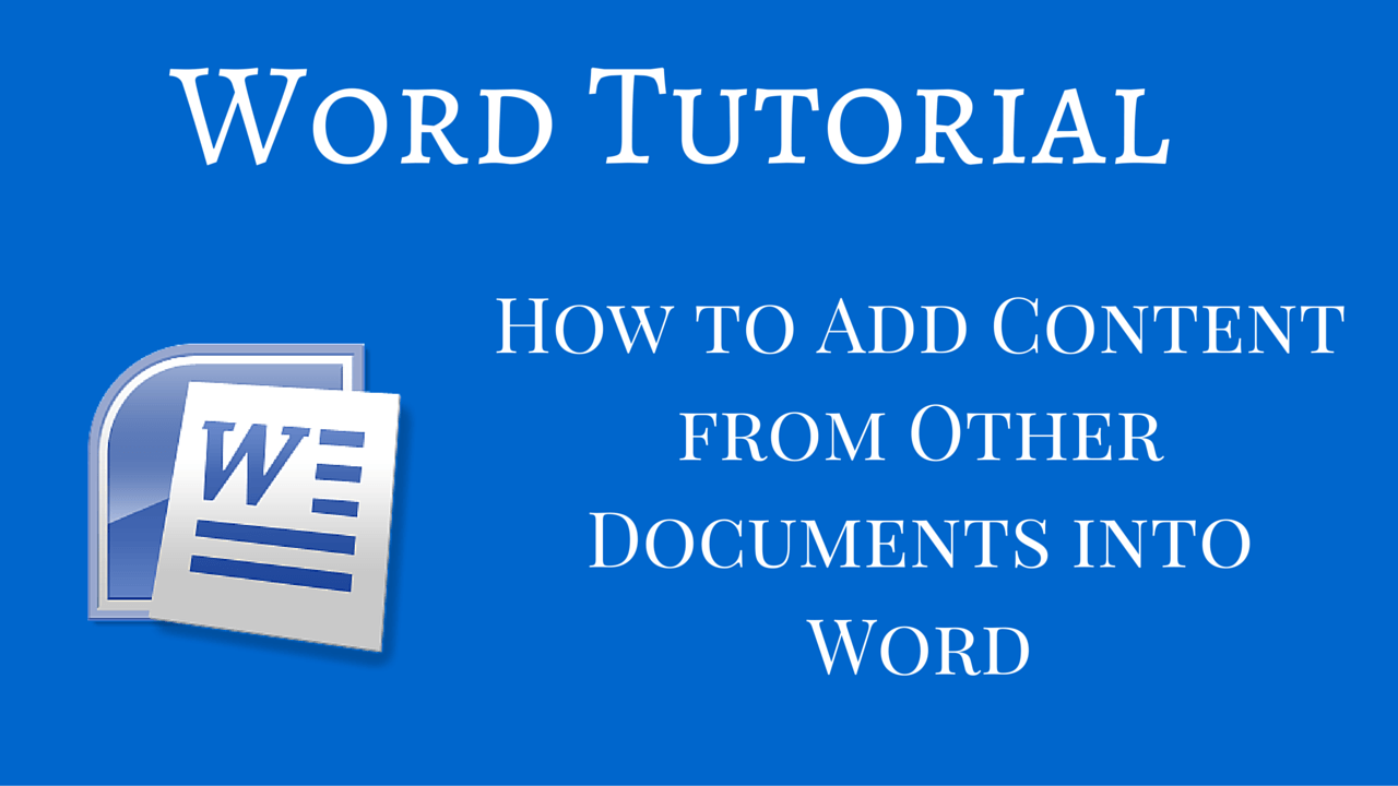 how to add word documents together