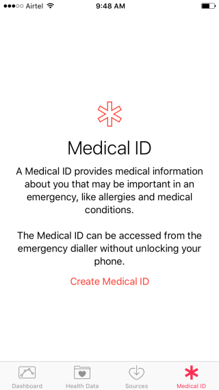 Medical ID in Apple Health