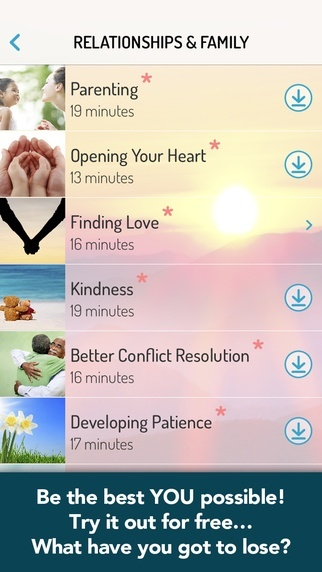 OMG. I Can Meditate! - Mindfulness Meditation App Categories