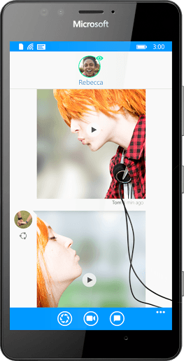 one on one conversations in Glide Live Video Messaging App