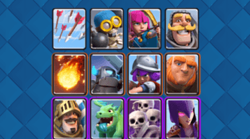 Clash Royale Cards in Arenas 2 to 7 fi