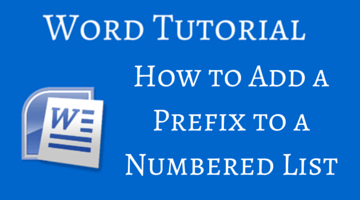 How to Add a Prefix to a Numbered List fi