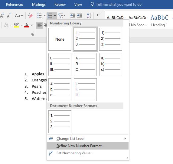 add a prefix to a numbered list