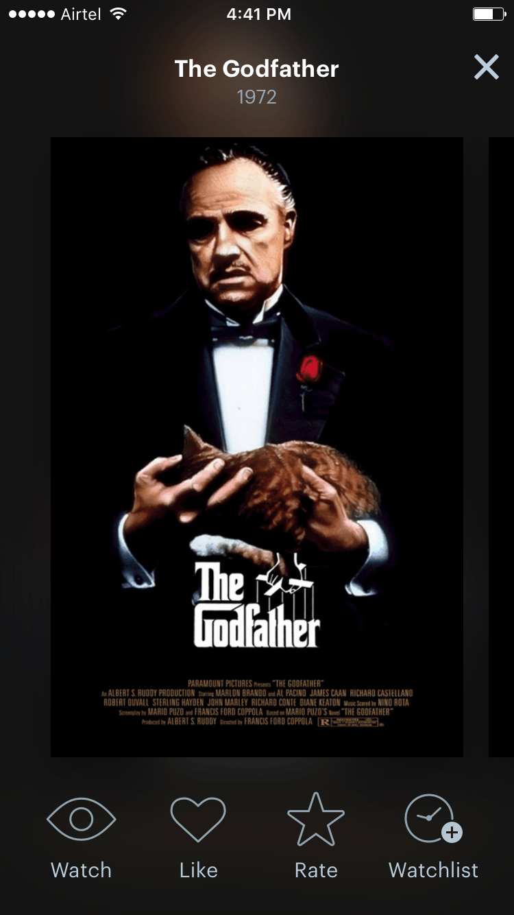Movie poster in Letterboxd