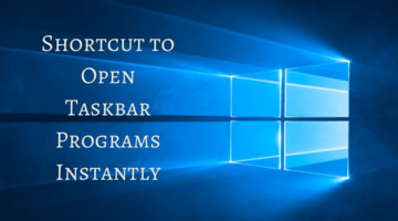Shortcut to Open Taskbar Programs Instantly fi