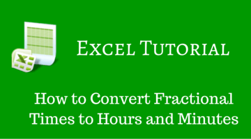 How to Convert Fractional Times to Hours and Minutes fi