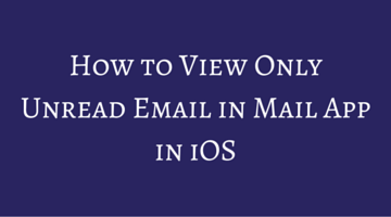 How to View Only Unread Email in Mail App in iOS fi