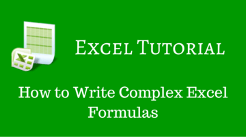 How to Write Complex Excel Formulas fi