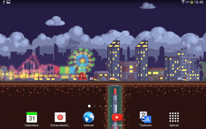 Pixel Road Wallpaper