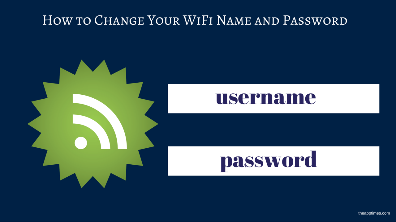 Change Your Wifi Name And Password How To