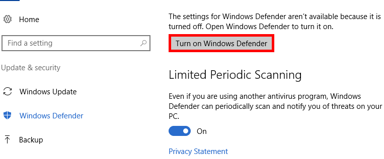 How to Perform a Manual Scan with Windows Defender