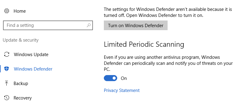 How to Scan Your PC with Windows Defender While Using Another Antivirus Program