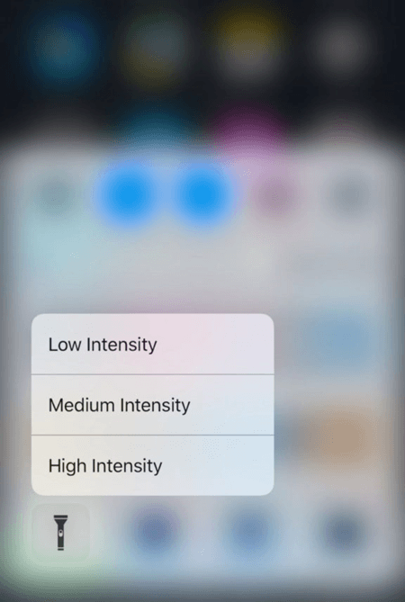How To Control The Flashlight Brightness In iOS 10 Using 3D Touch