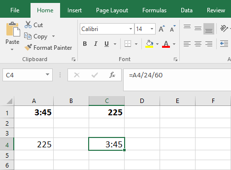 How to Convert Minutes to Time Format in Excel