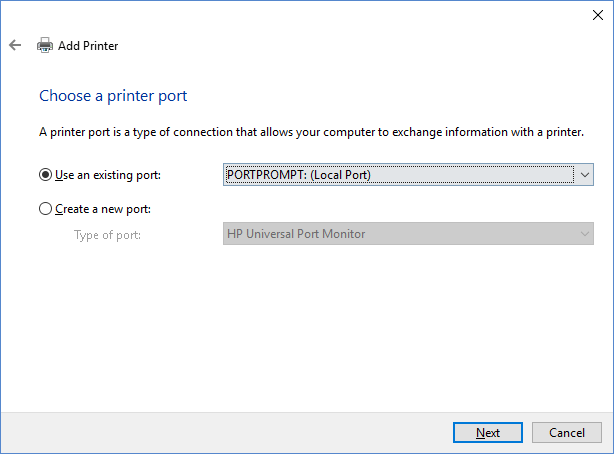 choose-a-printer-port