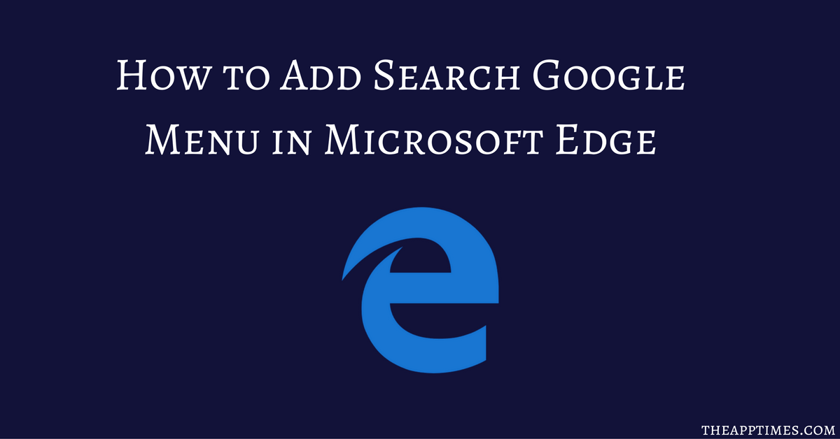how to make google your search engine on microsoft edge