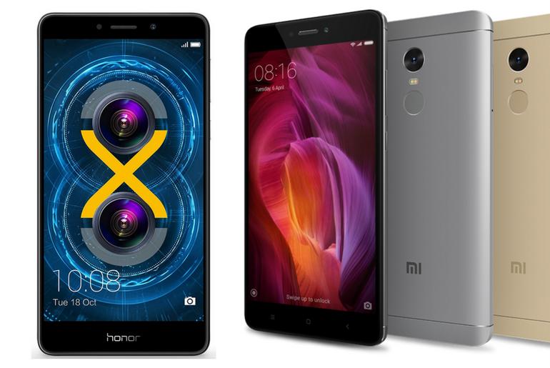 Comparing the Xiaomi Redmi Note 4 and Honor 6X