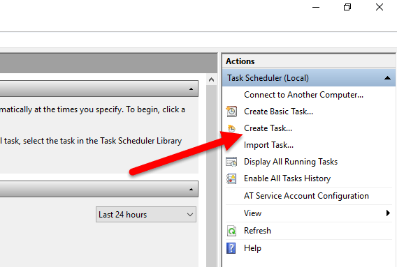 Create task in TS