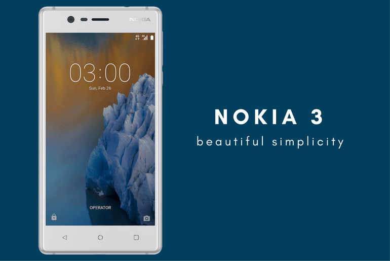Nokia 3 Android Phone Launch at MWC 2017 – India Price, Tech Specs