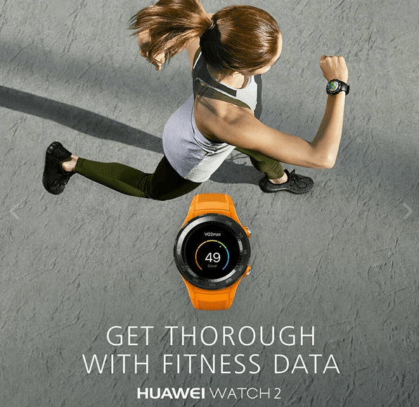 Huawei Watch 2 Fitness Data