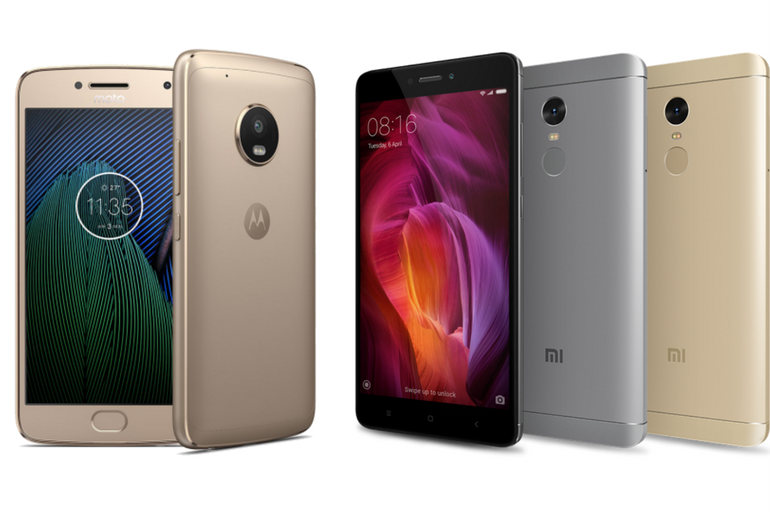 Comparing the Moto G5 Plus and the Redmi Note 4