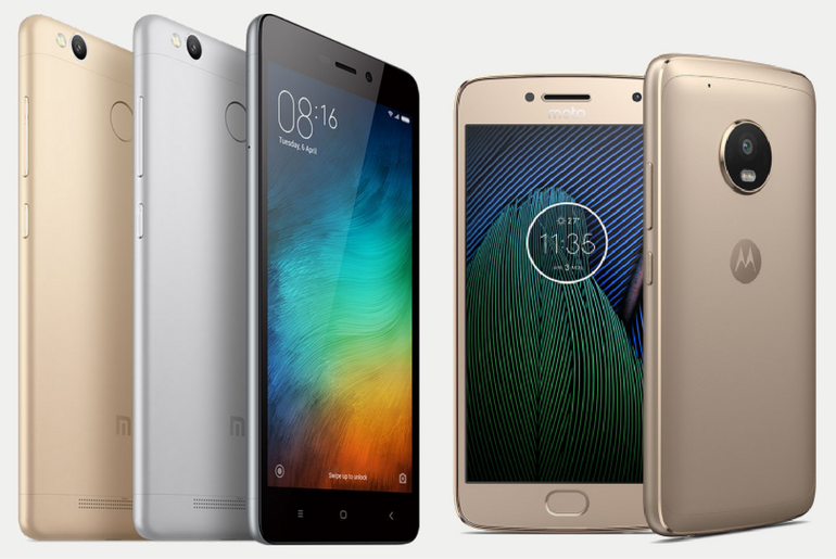 Comparing the Moto G5 with the Redmi 3S Prime
