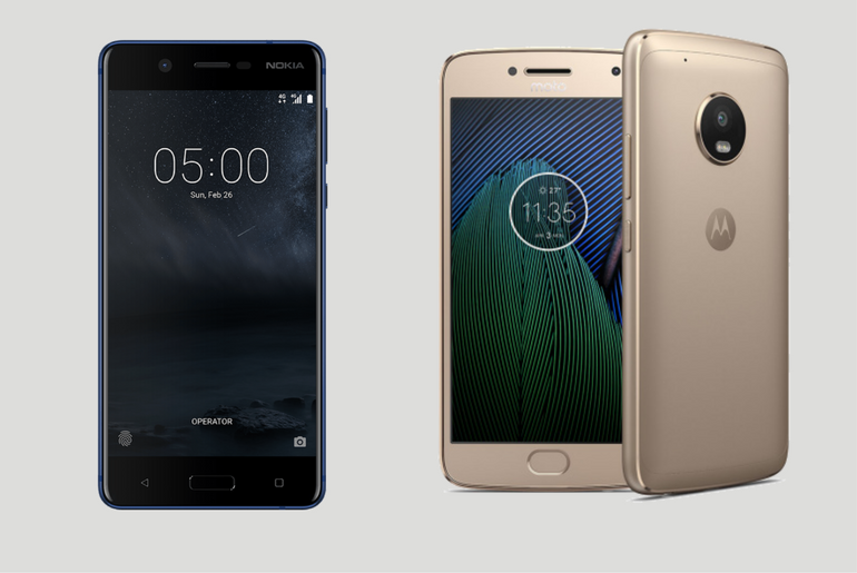 Comparing the Moto G5 with Nokia 5