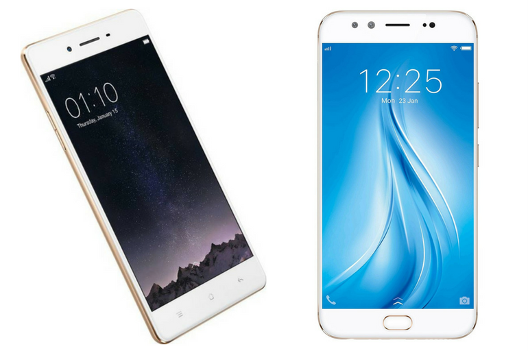 Comparing the Vivo V5 Plus and Oppo F1 Plus