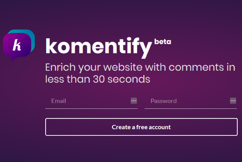 Komentify is a Clean and Classy Comment Widget Your Website Needs