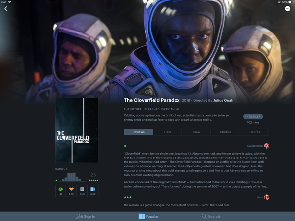 Letterboxd Movie listing