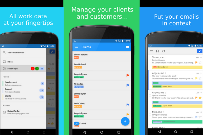 NetHunt CRM for Gmail Now on Android
