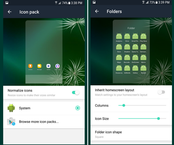 Evie Launcher App Review - IconPacks & Folders