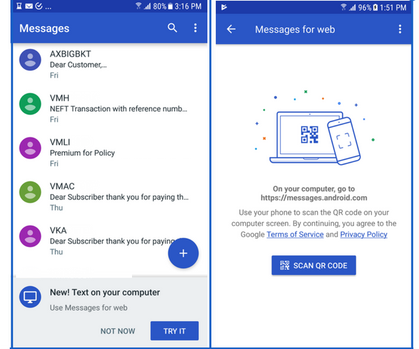 How to Send and Receive SMS From Your Computer Using Android Messages