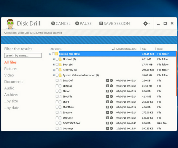 Disk Drill Windows Data Recovery - Quick Scan
