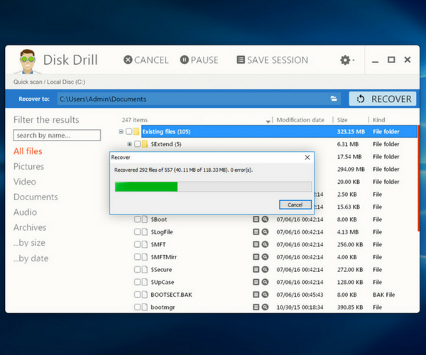 Disk Drill Windows Data Recovery - Recovery Page