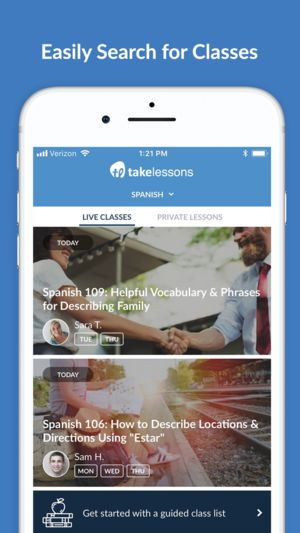 TakeLessons Live Search Classes