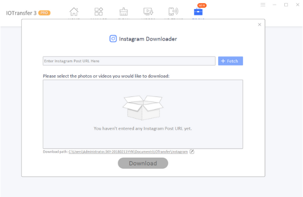 IOTransfer 3 - Instagram downloader