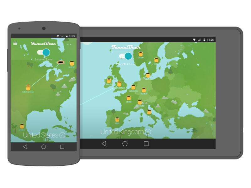 Best VPN Apps for Android - TunnelBear VPN