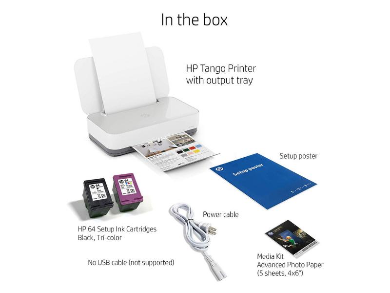 HP Tango Smart Home Printer - in the box