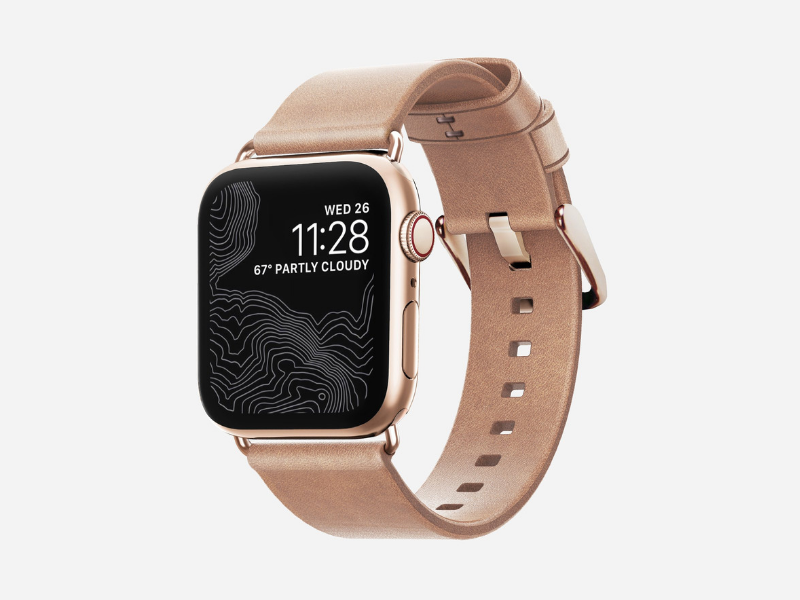 Nomad Leather Accessories - Modern Strap for Apple Watch