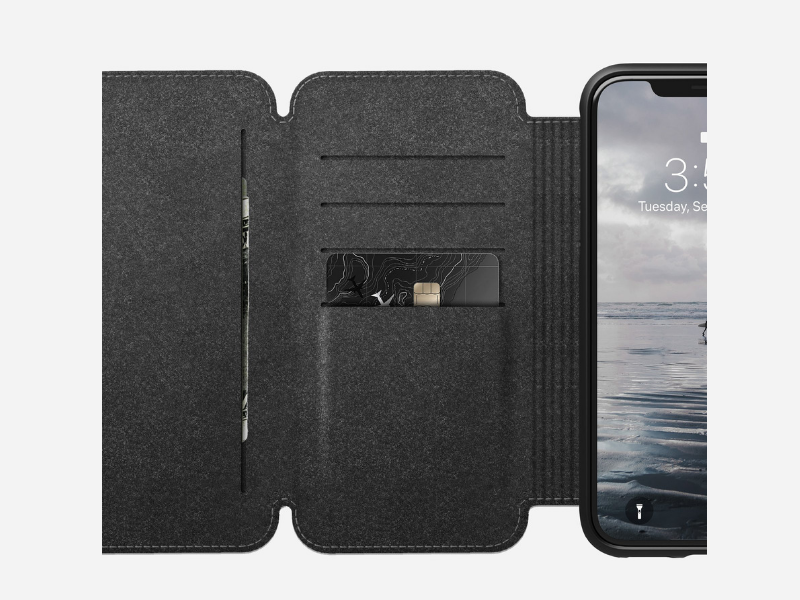 Nomad Leather Accessories - Rugged Tri-Folio for iPhone XS