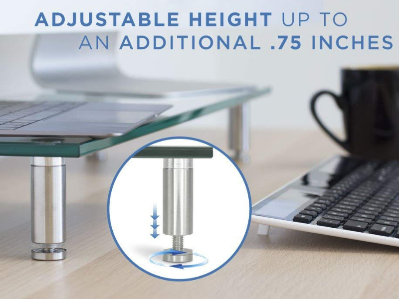 Mount-It Computer Monitor Stand - height adjustable