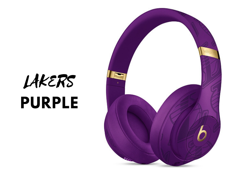 dc1fcfd9003 NBA Collection Studio3 Wireless Headphones - lakers purple. There are  plenty of ways to show off your fandom.